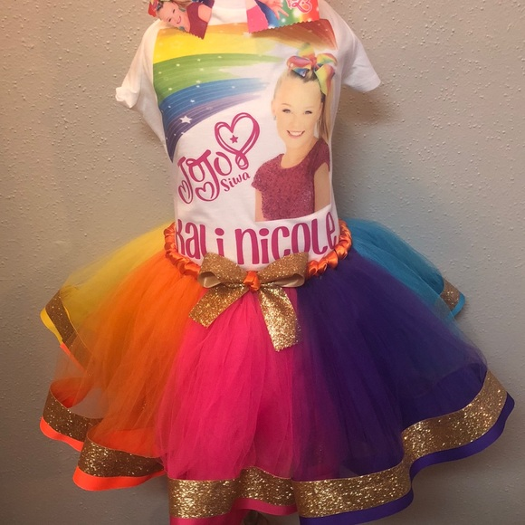 Jojo Siwa Birthday Tutu Set Outfit